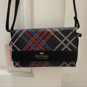 NWT Juicy Couture Plaid Cross Body Bag